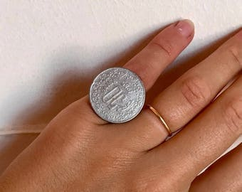 Indian Tribal Antique Rajasthani Paise Coin Gypsy Jewellery Handmade Ring