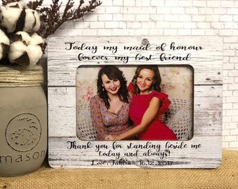 Maid Of Honor Gift| Maid Of Honor Frame| Wedding Frame| Bridesmaid Frame| Bridesmaid Gift Idea| Personalized Maid Of Honor|