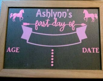 First Day of School Chalkboard (Double Sided)
