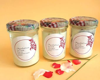 Scented candle soy wax candle candle soy candles Sojawachs essential Oils candle ethereal oils natural scent natural ingredients