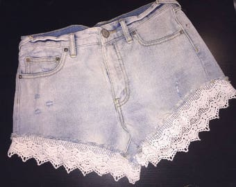 Free People Crochet Short SZ 25