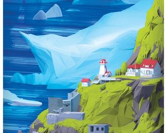 Icebergs in summer