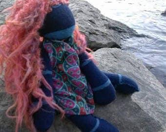 Oceana- a unique, handmade, lavender filled doll.