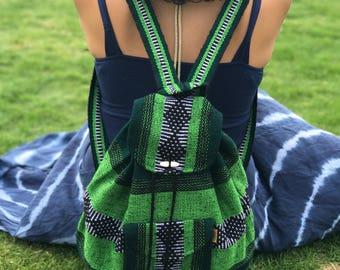 Mexican Hand Woven Backpack / Boho / Etnic