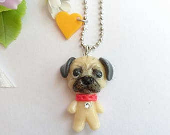 Pendant brooch charm Pug, Pug, Pug, dog accessories, dog accessories, dog figure, dog accessories, dog accessories