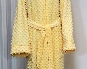 Hooded Bathrobe - Fleece Bathrobe- Housecoat - Pajamas and Robes - Loungewear - Nightgowns - Sleepwear - Gift for her