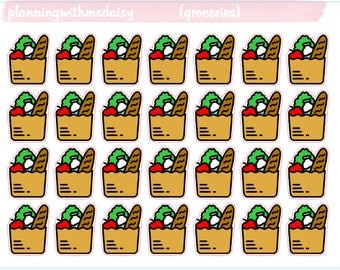 Grocery Bag Stickers