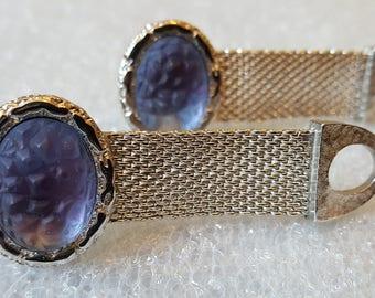 Vintage Blue/Purple Mens Cuff Links