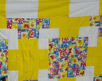 Handmade Butterfly Baby Girl Quilt (Perfect Baby Shower Gift!) - FREE Shipping