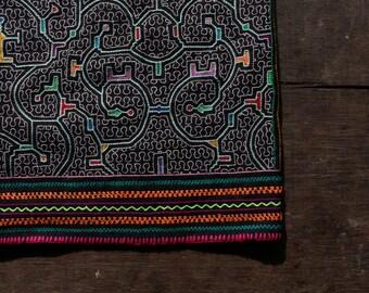 Black Shipibo Embroidered Skirt