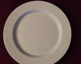DANSK Japan Ribbed Rim FLUTED WHITE Dinner Plate/s