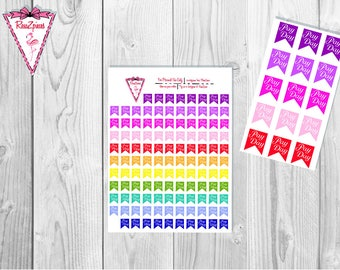 Printable Payday Flags - Functional Stickers w/Cut Line