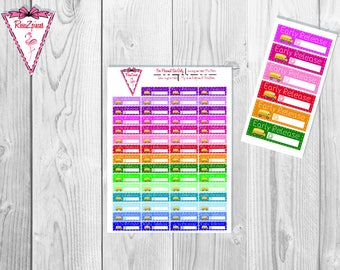 Printable School Early Release Stickers - Functional Stickers w/Cut Line