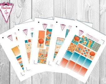 Fall Chic - Printable Erin Condren Weekly Kit w/Cut Line
