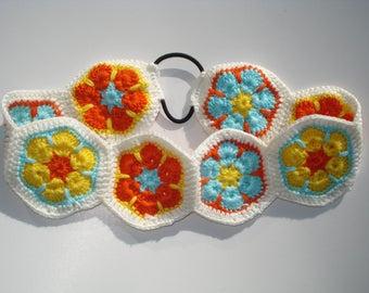Women's Crochet Headband, Women's Floral Crochet Headband, Boho Style Headband, Hippie Headband, Women's Hair Accessories, Gift for Girls
