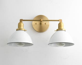 Bathroom Lighting Gold bathroom light fixture vanity lamp brass vanity smoked