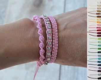 Layered Bracelet, Stacking Bracelet, Woven Bracelet, Cord Bracelet, Friendship, Anniversary Gift, Macrame Bracelet, Gift for Her