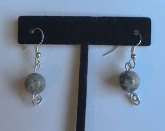Gray Jasper Earrings