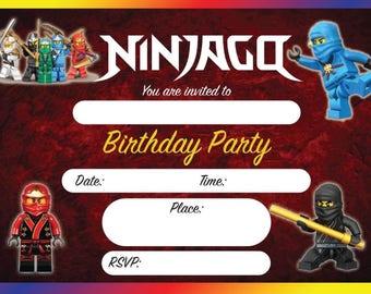 Ninjago Party Invitation Template orderecigsjuiceinfo