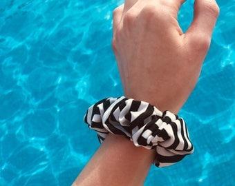 Stripe swim scrunchie