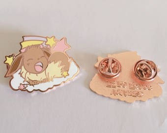 Eevee enamel pin, Eevee, pokemon pin, pokemon gifts, cute enamel pin, kawaii enamel pin, 90s pins, anime pin, lapel pin, hard enamel pin