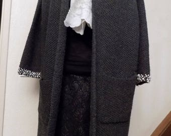 Anthracite grey color long jacket