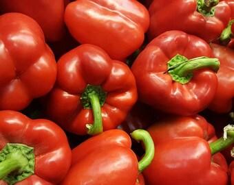 Pepper Sweet Autumn Bell 25+ seeds - heirloom seeds - vegetable seeds - garden seeds - pepper seeds - sweet pepper seeds - bell pepper seeds