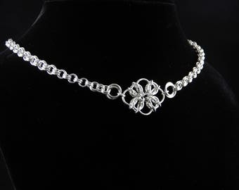 Celtic Diamond Chainmaille Necklace