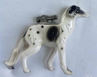 Vintage Dog Lighter, Ceramic Dog Lighter, Hound Dog Lighter, Collectible Lighter