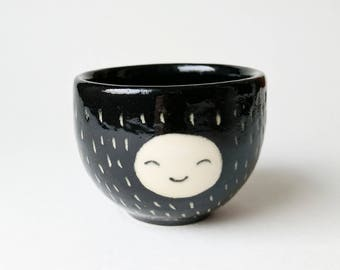 Small Double Smiling Face Espresso Cup / Planter