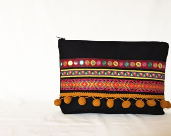 Boho Clutch / Cosmetic Bag / Unamica Bag