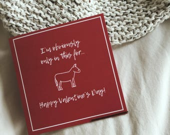 I'm Obviously Only This For Ass Greeting Card - Valentine's Day Anniversary