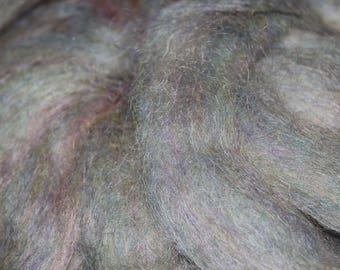 Springtime exotic mohair / alpaca / wool blended roving, 3oz skeins