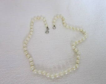 Antique String of Real Pearls Necklace 17 inch