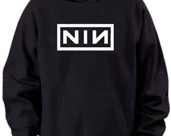 Nine Inch Nails Logo Hoodie Mens Sizes S M L Xl Xxl Xxxl 4xl 5xl
