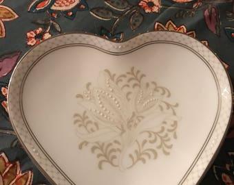 Vintage Waterford Padov Heart Shaped Dish / Bride / Wedding / Bone China /