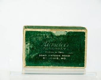 Vintage Pill Prescription Box Riemeier's Pharmacy St. Louis Missouri