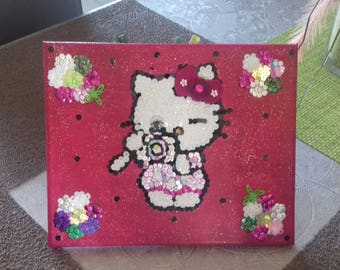 pretty picture hello kitty raspberry