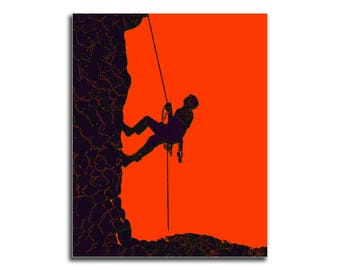 Mountain Climber Digital Print, Hobby Mountain Climber, Gift To Mountain Climber, Colorful Wall Art, Wall Decor, 8x10 -  Get 5 Colorful JPG