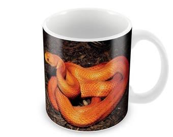 Snake Ceramic Coffee Mug    Free Personalisation