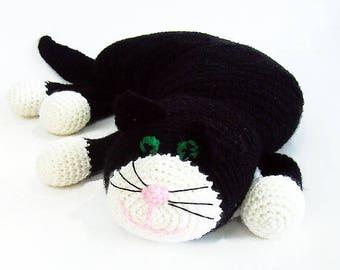 Free Shipping, Crochet Cat Pillow, Stuffed Crochet Cat, Stuffed Cat Toy, Crochet Toys, Crochet Stuffed Animals, Crochet Toy Cat, Cat Lovers