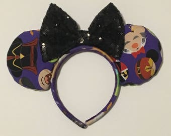 Villain Mickey Ears - Disney Villain Ears - Evil Mickey Ears - Disney Inspired Villain Mickey Ears - Wicked Minnie Ears