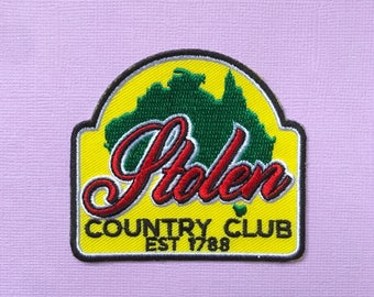 Stolen Country Club iron-on patch