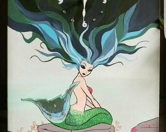 16x20 Mermaid clock