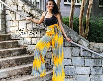 Ankara African Print High Waist Wide Leg Trousers