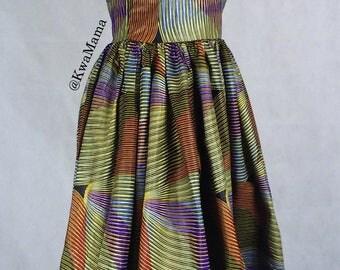 African print midi dress, handmade ankara dress, African wax, Robe Africaine, Midi shift dress
