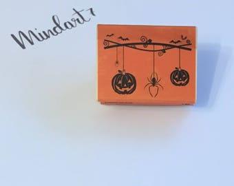 """Wooden stamp """"Jack-o-lantern"""""""