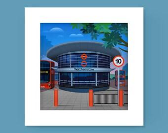 Walthamstow Bus Station Print