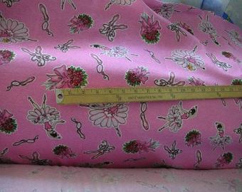 Ballerina/Ballet Shoes/Flowers Cotton Interlock Fabric