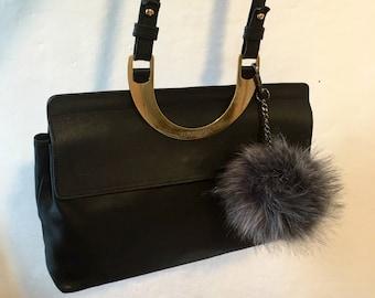 Belt Fendi messenger bag line Fendissime, vintage, black and gold